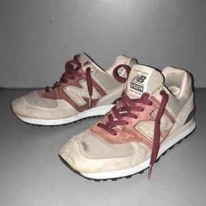 Vintage New Balance US 574 Suede Red / Grey
